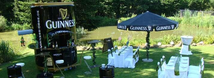 Guinness Sonnenschirme groß oder klein & Dekoration | Irische Hochzeit | Über uns